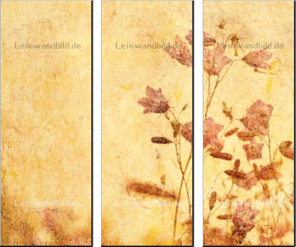 Leinwandbild - javarman : grunge floral background with space for text or image