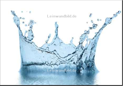Leinwandbild - Andrey Armyagov : sparks of blue water on a white background ...