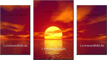 Leinwandbild - Sergey Nikolaev : red sunset