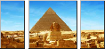 Leinwandbild Great Sphinx of Giza - panorama