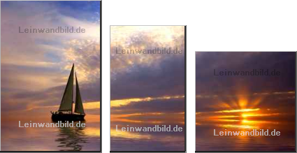 Leinwandbild - Eric Gevaert : sailing and sunset