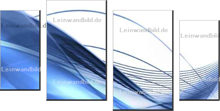 Leinwandbild - Neliana Kostadinova : Modern background in blue