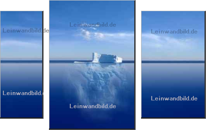 Leinwandbild - Jan Will : iceberg