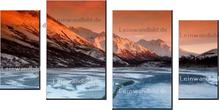Leinwandbild - Roman Krochuk : sunset colors of the alaska range