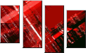 Leinwandbild abstract red urbanism luminous background