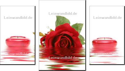 Leinwandbild - MAXFX : red rose and candles