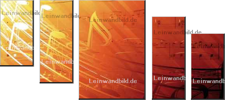 Leinwandbild - Kundra : musical background