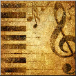 Leinwandbild musical background in golden colors