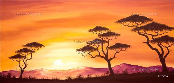leinwandbild motiv chanel simon sunset africa leinwandbild keilrahmenbild wandbild. Black Bedroom Furniture Sets. Home Design Ideas