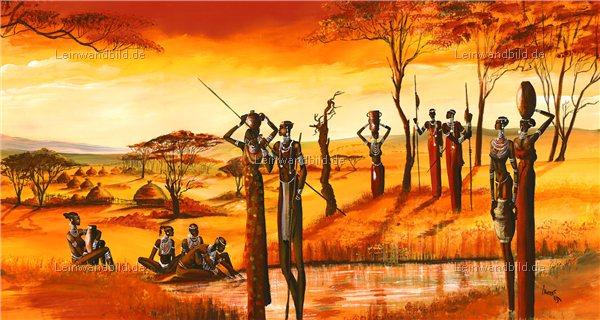 Leinwandbild motiv mia morro massai afrika leinwandbild keilrahmenbild wandbild - Wandbilder malen motive ...