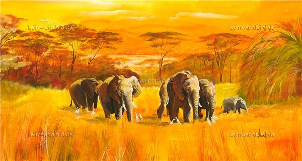 leinwandbild motiv mia morro elefanten in afrika leinwandbild keilrahmenbild wandbild. Black Bedroom Furniture Sets. Home Design Ideas