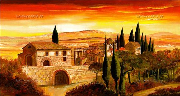 Leinwandbild motiv mia morro spanisches dorf - Gemalte wandbilder ...