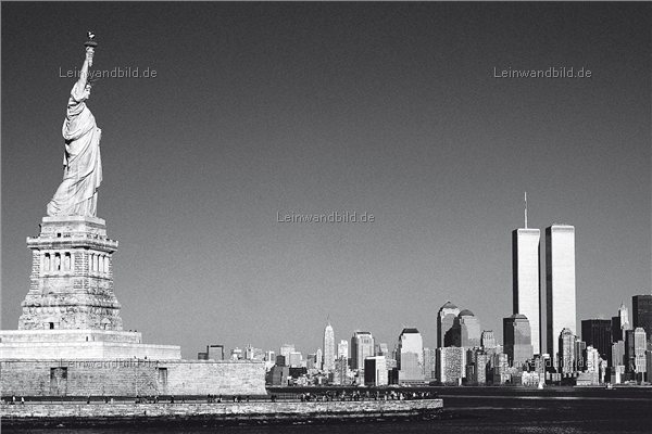 Leinwandbild Motiv - Jack Dyrell : Old New York Skyline ...