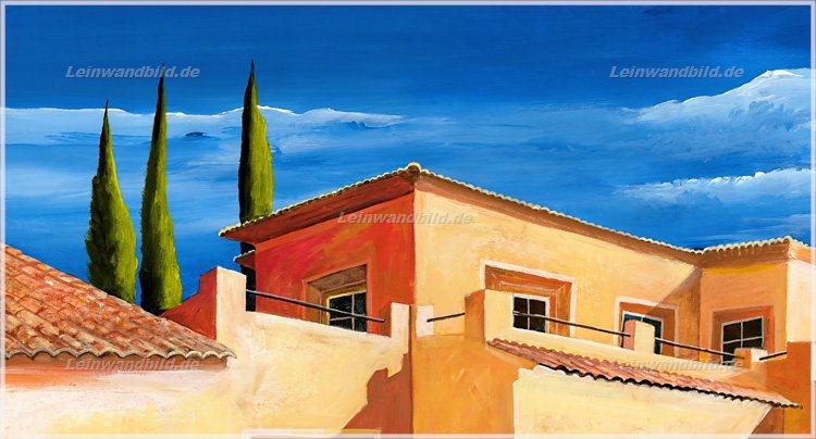 Leinwandbild motiv mia morro mediterrane villa mit - Mediterrane wandbilder ...