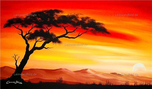 leinwandbild motiv chanel simon sonnenuntergang in afrika leinwandbild keilrahmenbild. Black Bedroom Furniture Sets. Home Design Ideas