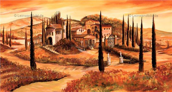 Leinwandbild motiv mia morro toskana italien - Mediterrane wandbilder ...